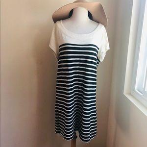 Merona Contrast Yoke Stripe shift dress